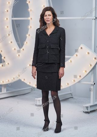 Anna Mouglalis attends the Chanel Womenswear Spring/Summer 2021 show as part of Paris Fashion Week on October 06, 2020 in Paris, France.