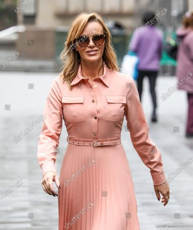 Amanda Holden seen departing the Global Radio Studios in London.
