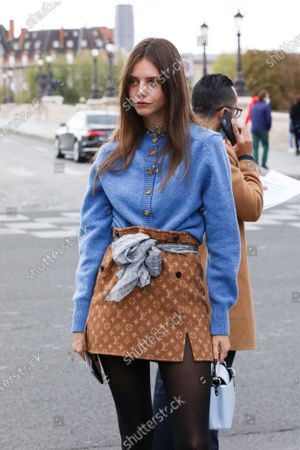 Stock Photo of Alizee Gamberini arrives at the Louis Vuitton Spring Summer 2021 fashion show