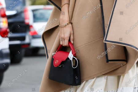 Stock Image of Monica de La Villardiere, bag detail
