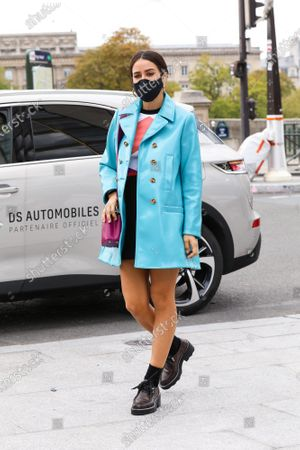 Editorial image of Louis Vuitton show, Arrivals, Spring Summer 2021, Paris Fashion Week, France - 06 Oct 2020