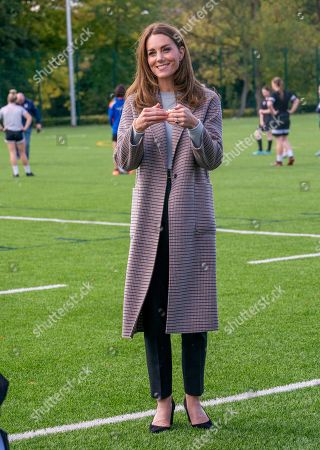 The Duchess of Cambridge visits students at the University of Derby, UK - 06 Oct 2020: редакционная картинка