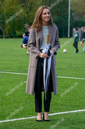 The Duchess of Cambridge visits students at the University of Derby, UK - 06 Oct 2020: редакционное изображение