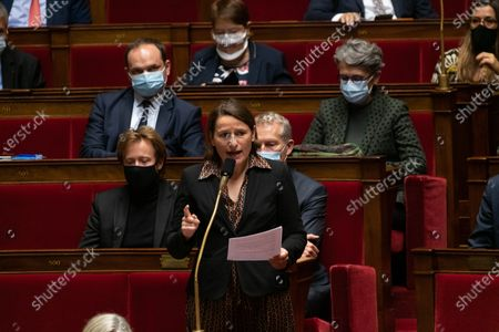 Valerie Rabault during the weekly session of questions to the government at the French National Asembly.
