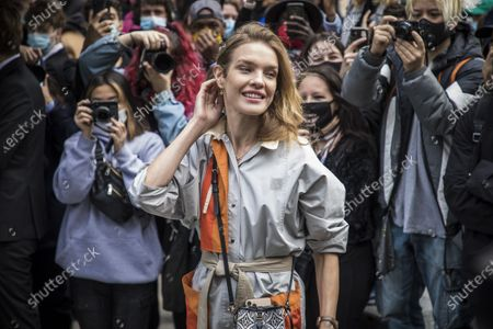 Russian model Natalia Vodianova arrives for the presentation of the Spring/Summer 2021 Ready to Wear collection by French designer Nicolas Ghesquiere for Louis Vuitton fashion house at the newly renovated department store 'La Samaritaine' during the Paris Fashion Week, in Paris, France, 06 October 2020. The fashion week runs from 29 September to 06 October 2020.