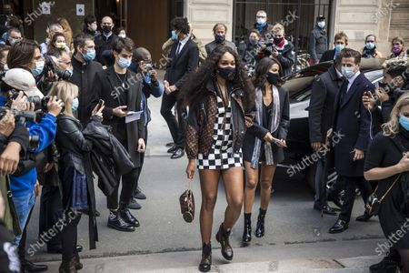 US tennis player Venus Williams arrives for the presentation of the Spring/Summer 2021 Ready to Wear collection by French designer Nicolas Ghesquiere for Louis Vuitton fashion house at the newly renovated department store 'La Samaritaine' during the Paris Fashion Week, in Paris, France, 06 October 2020. The fashion week runs from 29 September to 06 October 2020.