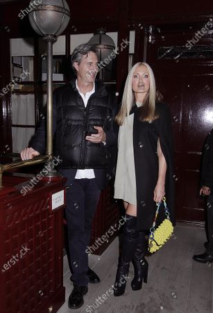 Editorial photo of Caprice Bourret at Loulou's, London, UK - 30 Sep 2020