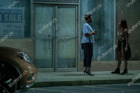 Tangela Large as Sinclair and Brandee Evans as Mercedes
