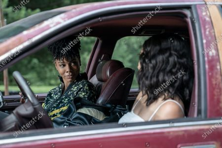 Brandee Evans as Mercedes and Elarica Johnson as Autumn Night