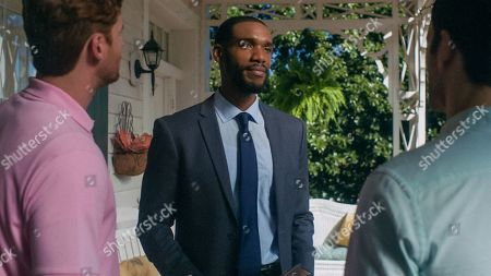 Stock Photo of Donny Boaz as Wyatt Kyle and Parker Sawyers as Andre Watkins