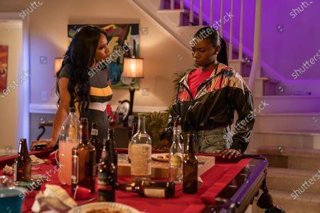 Brandee Evans as Mercedes and Azaria Carter as Terricka