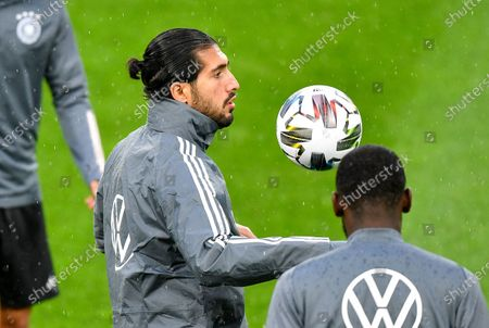Germany's Emre Can exercises with the ball during a training session of the German national soccer team prior the friendly soccer match between Germany and Turkey in Cologne, Germany