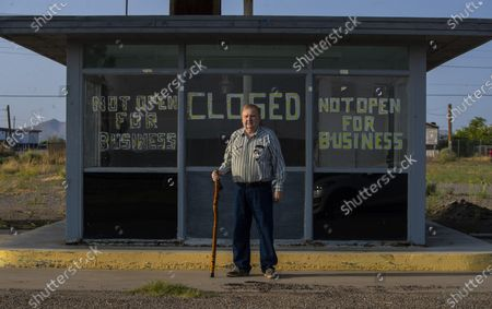 Editorial photo of Lordsburg resident Dean Link stands at a former truck stop, Lordsburg, Nm, United States - 21 Sep 2020