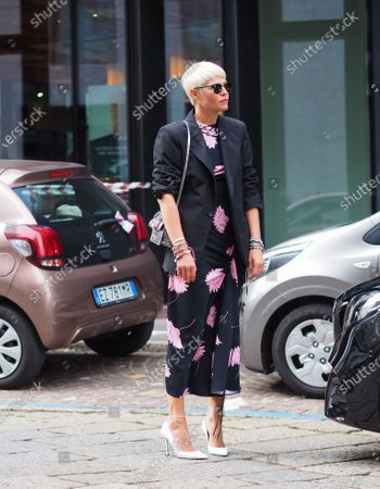 Elisa Nalin street style outfit before Drome fashion show during Milano fashion week fall winter 2020