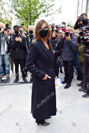 Editorial picture of Louis Vuitton show, Arrivals, Spring Summer 2021, Paris Fashion Week, France - 06 Oct 2020