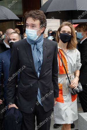 Stock Photo of Antoine Arnault and his wife Natalia Vodianova-Arnault