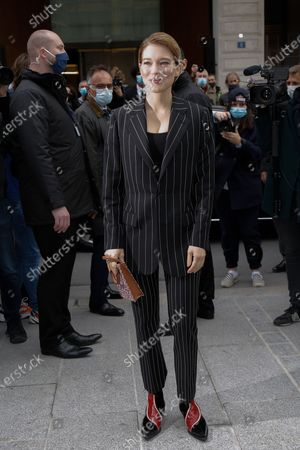 Editorial picture of Louis Vuitton show, Arrivals, Spring Summer 2021, Paris Fashion Week - 06 Oct 2020