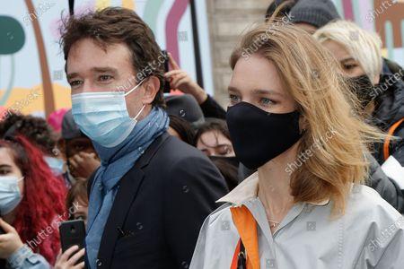 Stock Image of Antoine Arnault and his wife Natalia Vodianova-Arnault