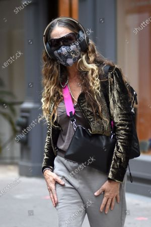Stock Photo of Sarah Jessica Parker leaves SJP by Sarah Jessica Parker store in Midtown Manhattan.