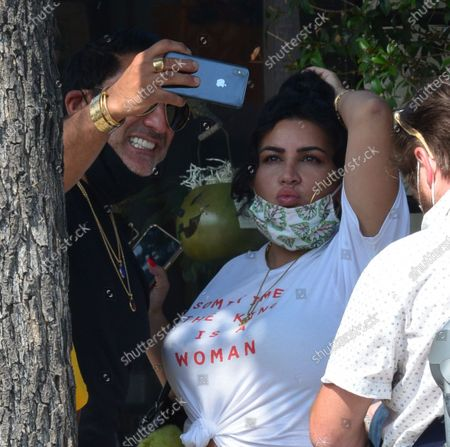Editorial photo of Exclusive - Reza Farahan and Mercedes Javid out and about, Los Angeles, USA - 06 Oct 2020