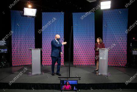 Editorial picture of Election 2020 Senate Debate, Phoenix, United States - 06 Oct 2020