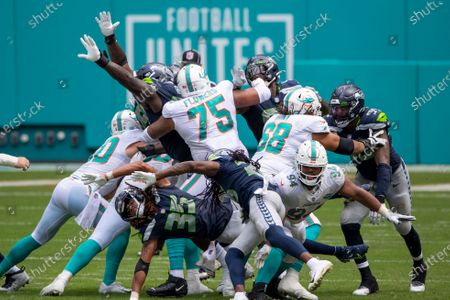 Editorial photo of Seahawks Dolphins Football, Miami Gardens, United States - 04 Oct 2020