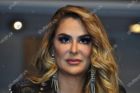 Ninel Conde speaks during 'A Oscuras me da Risa' press conference at Aldama Theatre