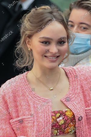 Lily-Rose Depp in the front row