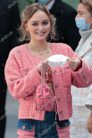 Stock Image of Lily-Rose Depp in the front row