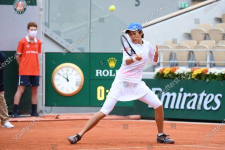 Stock Photo of Zhang Shuai at Roland Garros
