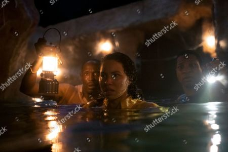 Stock Image of Michael K Williams as Montrose Freeman, Jurnee Smollett-Bell as Letitia 'Leti' Lewis and Jonathan Majors as Atticus Freeman