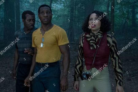 Courtney B Vance as George Freeman, Jonathan Majors as Atticus Freeman and Jurnee Smollett-Bell as Letitia 'Leti' Lewis