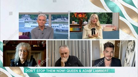 Phillip Schofield, Holly Willoughby, Brian May, Roger Taylor and Adam Lambert