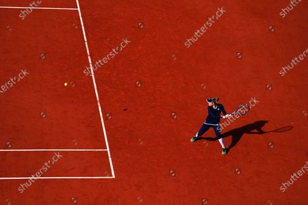 Laura Siegemund during her Women's Singles quarter-final match
