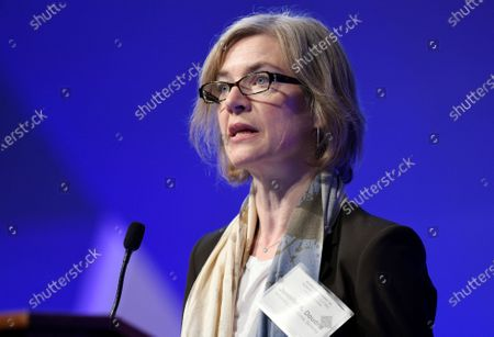 """Jennifer Doudna, a University of California, Berkeley, co-inventor of the CRISPR gene-editing tool that He Jiankui used, speaks at the National Academy of Sciences international summit on the safety and ethics of human gene editing, in Washington. The 2020 Nobel Prize for chemistry has been awarded to Emmanuelle Charpentier and Jennifer Doudna """"for the development of a method for genome editing."""" A panel at the Swedish Academy of Sciences in Stockholm made the announcement"""