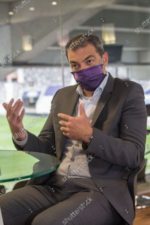 Stock Photo of Damien Comolli president of Toulouse Footbal Club, TFC, since July 20, 2020 with the sale of the club by Olivier Sadran to American investors RedBird Capital Partners6.
