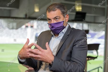 Stock Image of Damien Comolli president of Toulouse Footbal Club, TFC, since July 20, 2020 with the sale of the club by Olivier Sadran to American investors RedBird Capital Partners6.