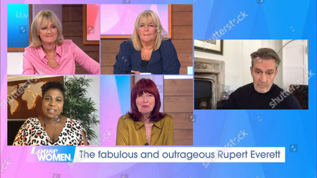 Jane Moore, Linda Robson, Brenda Edwards, Janet Street-Porter and Rupert Everett