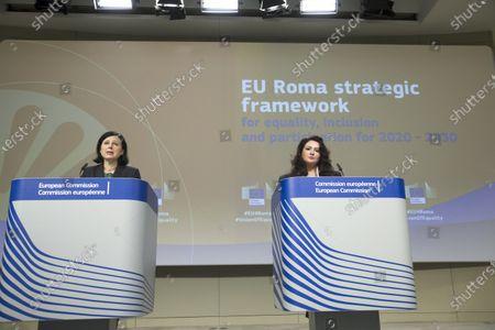 Editorial photo of EU Roma strategic framework press conference, Brussels, Belgium - 07 Oct 2020