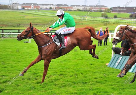 GALWAY PARAMOID and Davy Russell jump the last to win The Bet 10 get 20 with MansionBet Handicap Hurdle. Healy Racing