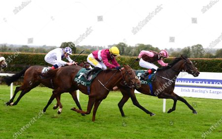Stock Picture of NAVAN 7-October-2020. MEMYSELFANDMOI and Dylan Browne McMonagle (right) wins for owners Rugby & Racing Syndicate and trainer Joseph O'Brien.