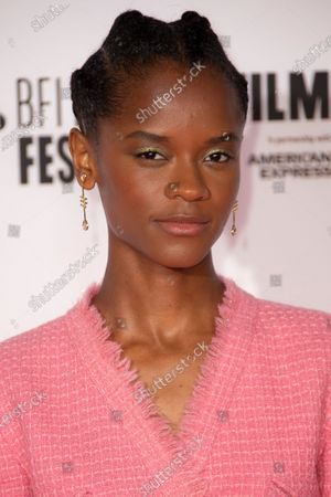 Actor Letitia Wright poses for photographers during the photo call for the film 'Mangrove', as part of London Film Festival at the BFI Southbank, in central London