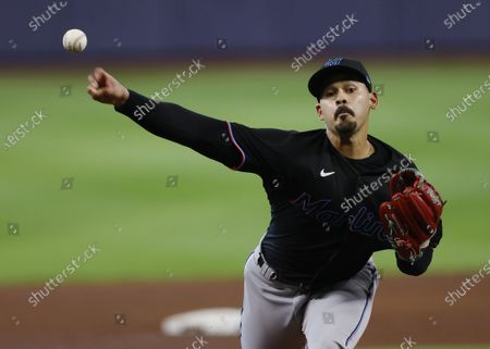Editorial picture of Miami Marlins at Atlanta Braves, Houston, USA - 07 Oct 2020