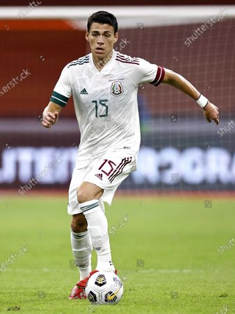 Stock Photo of Hector Moreno of Mexico in action during the international friendly soccer match between the Netherlands and Mexico at Johan Cruyff Arena in Amsterdam, the Netherlands, 07 October 2020.