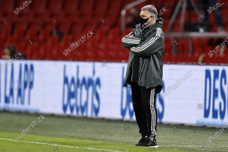 Mexico's head coach Gerardo Martino in a protective mask during the international friendly soccer match between the Netherlands and Mexico at Johan Cruyff Arena in Amsterdam, the Netherlands, 07 October 2020.