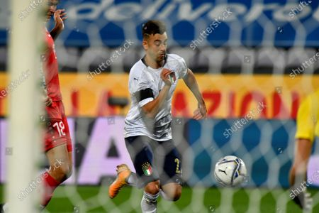 Italy's Stephan El Shaarawy in action during the international friendly soccer match between Italy and Moldova at the Artemio Franchi stadium in Florence, Italy, 07 October 2020.