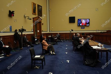 United States Representative Carolyn Maloney (Democrat of New York) speaks during the hearing conducted by the House Committee on Oversight and Reform to discuss the role of the Internal Revenue Service during the pandemic in Washington, D.C.
