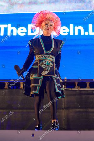 Stock Photo of Deezer's 80's Drive In Event with live performance from Toyah Willcox for National Album Day