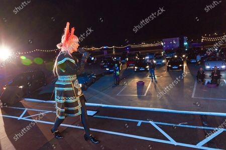 Stock Picture of Deezer's 80's Drive In Event with live performance from Toyah Willcox for National Album Day
