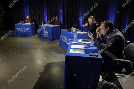 Editorial photo of Election 2020 Governor Debate, Olympia, United States - 07 Oct 2020